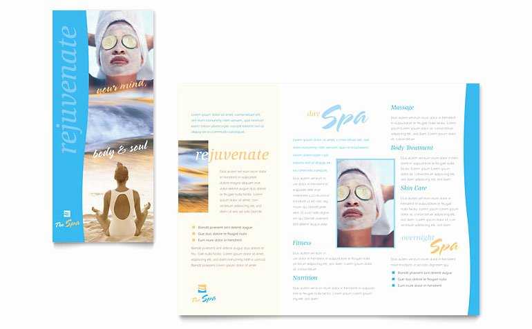 Beauty Spa Brochure Template Word & Publisher