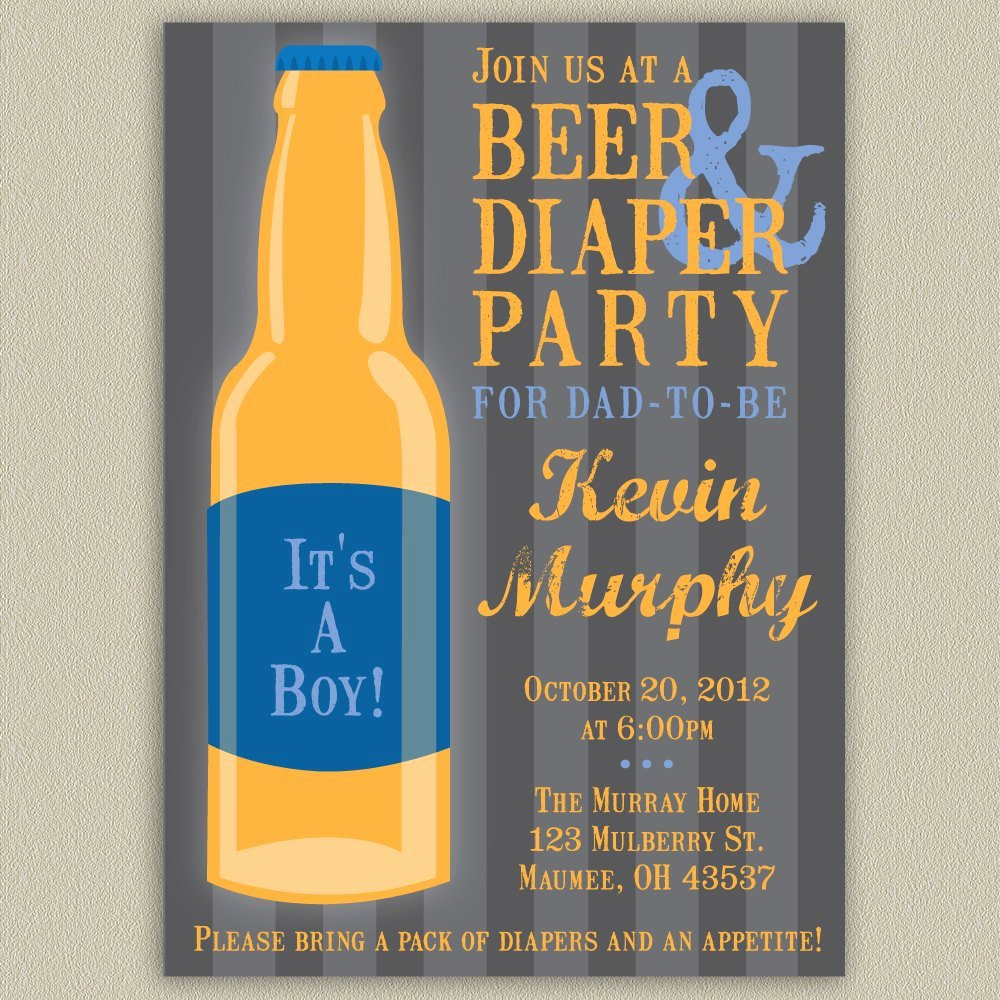 Beer and Diaper Party for Dad Printable by Doubleudesign