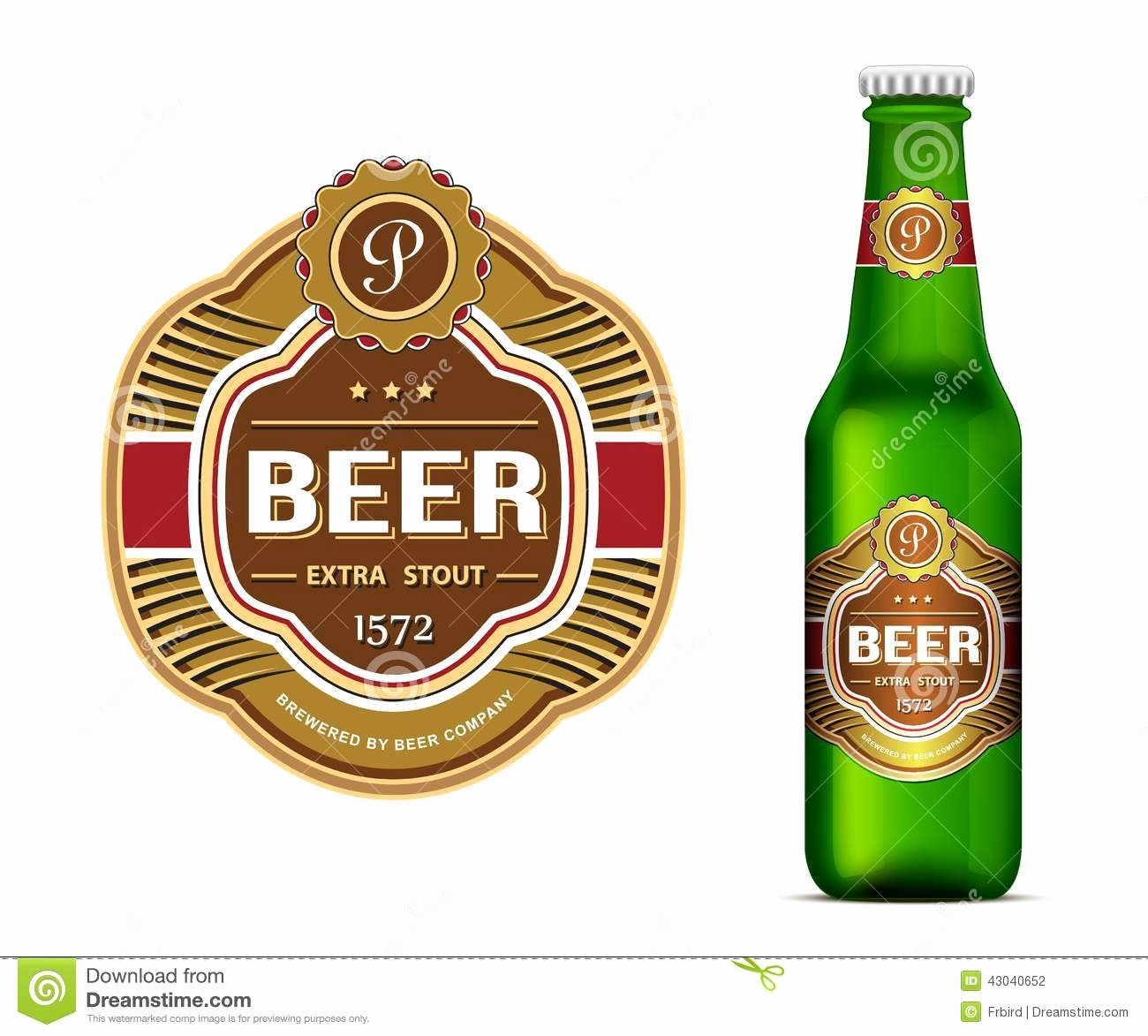 Beer Label Template Stock Vector Illustration Of Packing