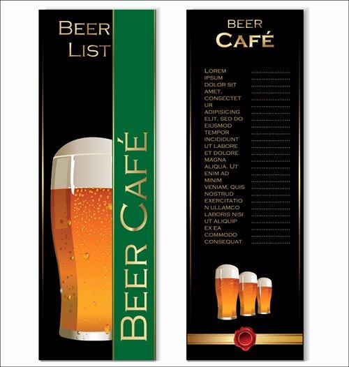 Beer Menu List Design Vector Graphics Vector Cover