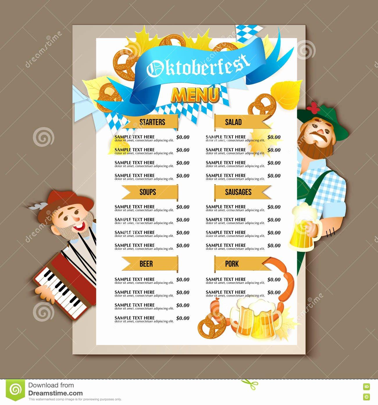 Beer Restaurant Brochure Vector Alcohol Menu Design Stock