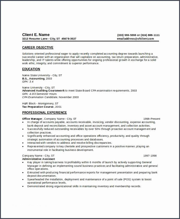 Beginner Resume and Entry Level Resume Template