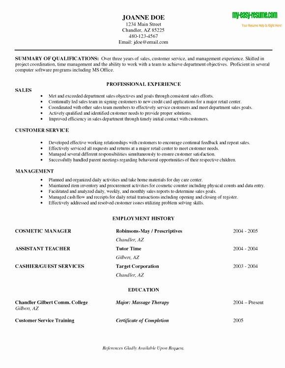 Beginner Resume Sample
