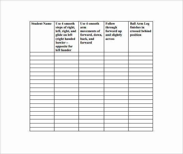 Behavior Chart Template for Elementary Templates