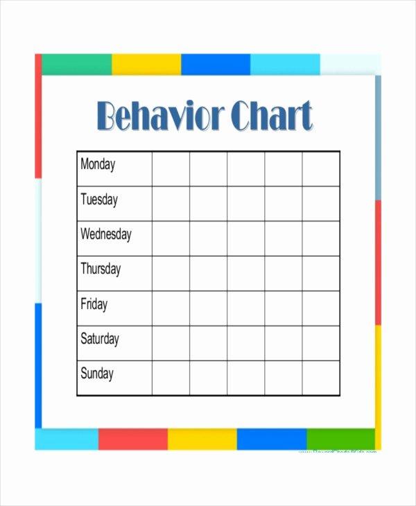 Behavior Chart Template