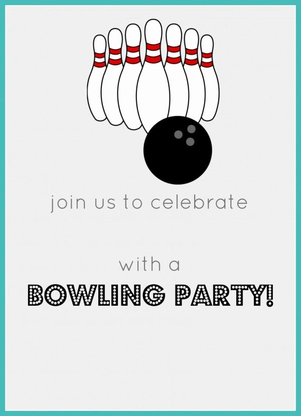 Best 25 Bowling Birthday Invitations Ideas On Pinterest