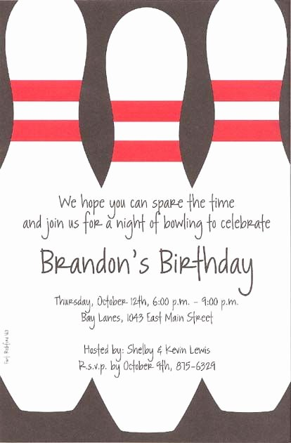 Best 25 Bowling Party Invitations Ideas On Pinterest