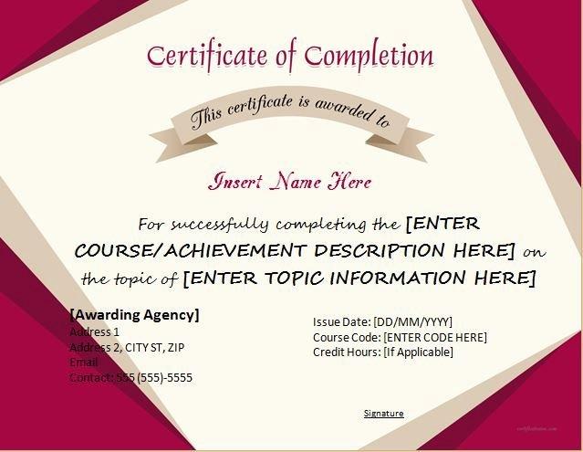 Best 25 Certificate Of Pletion Template Ideas On