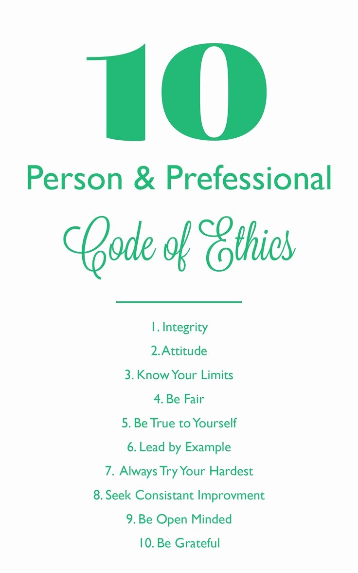 Best 25 Code Of Ethics Ideas On Pinterest