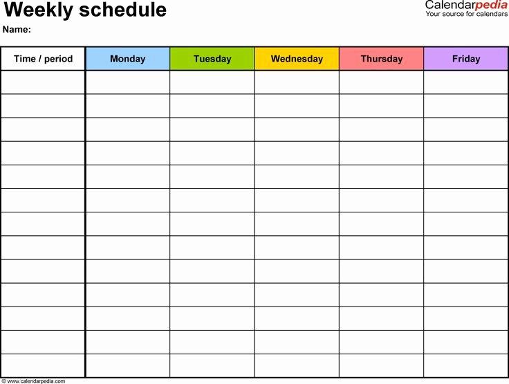 Best 25 Daily Schedule Template Ideas On Pinterest