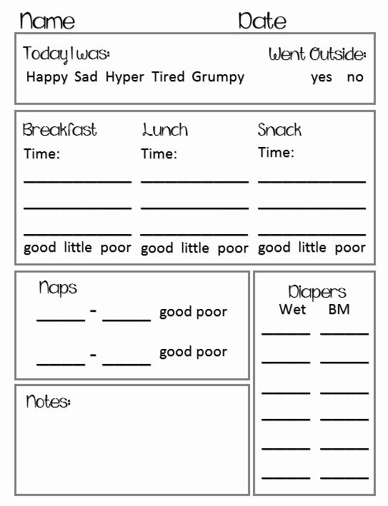 Best 25 Daycare Daily Sheets Ideas On Pinterest