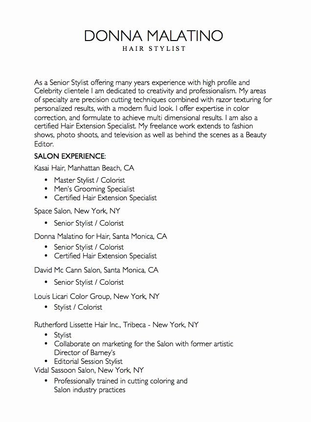 Best 25 Hairstylist Resume Ideas On Pinterest