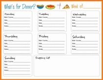 Best 25 Meal Planning Templates Ideas On Pinterest