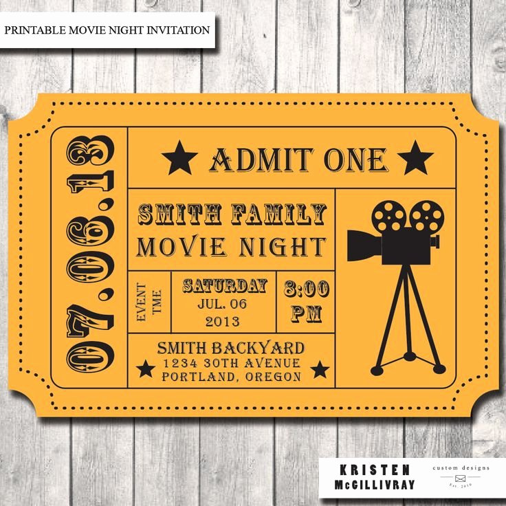 Best 25 Movie Ticket Template Ideas On Pinterest