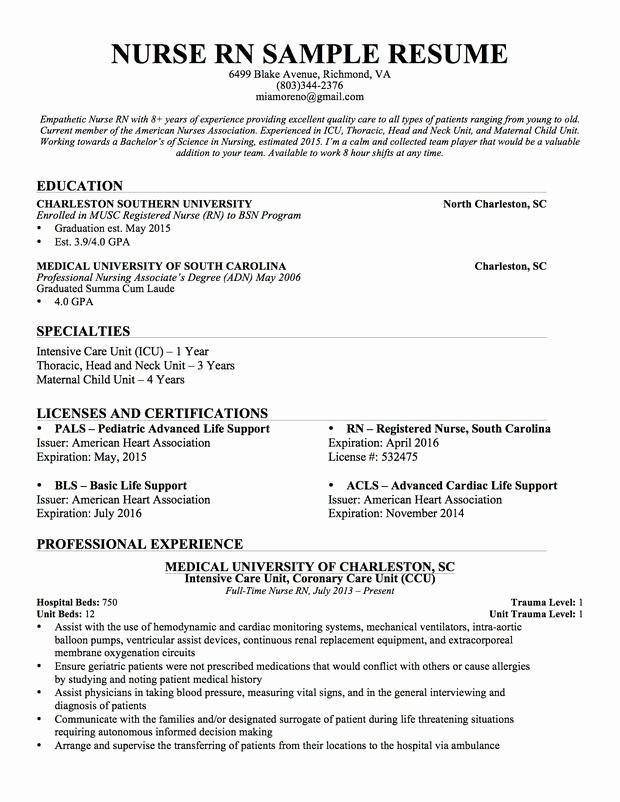Best 25 Nursing Resume Ideas On Pinterest