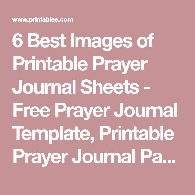 Best 25 Prayer Journal Template Ideas On Pinterest