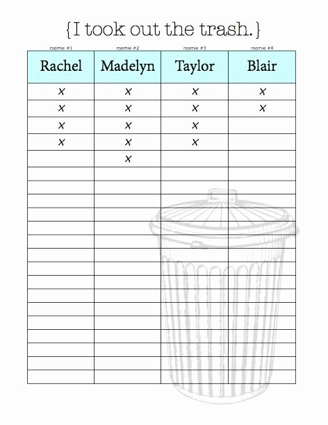 Best 25 Roommate Chore Chart Ideas On Pinterest