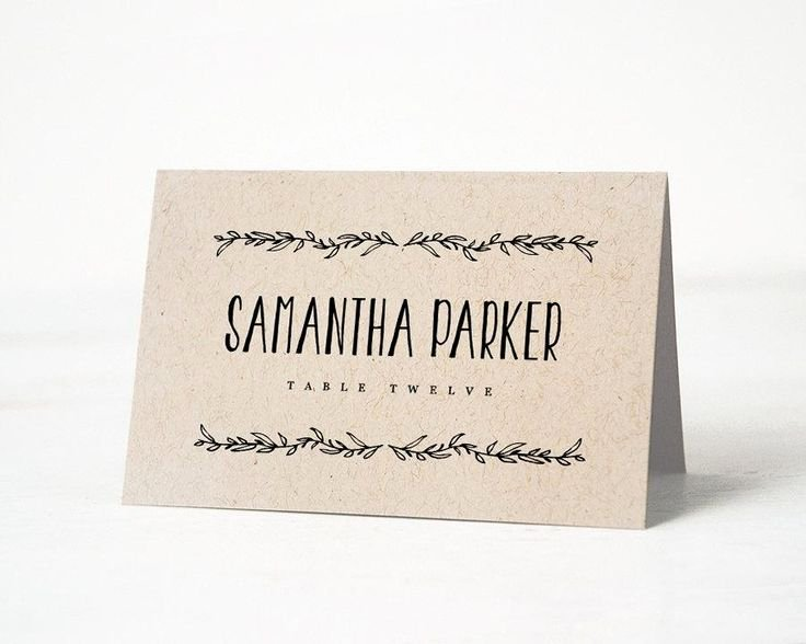 Best 25 Rustic Place Cards Ideas On Pinterest