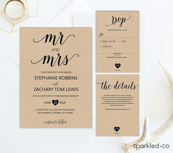 Best 25 Wedding Invitation Templates Ideas On Pinterest