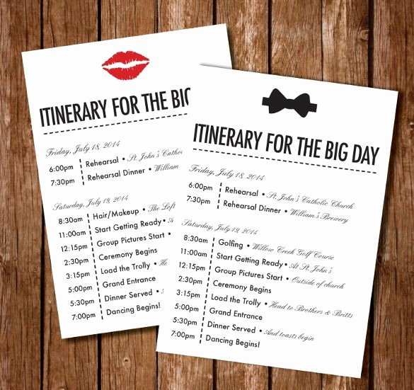 Best 25 Wedding Itinerary Template Ideas On Pinterest