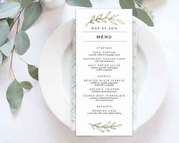 Best 25 Wedding Menu Template Ideas On Pinterest