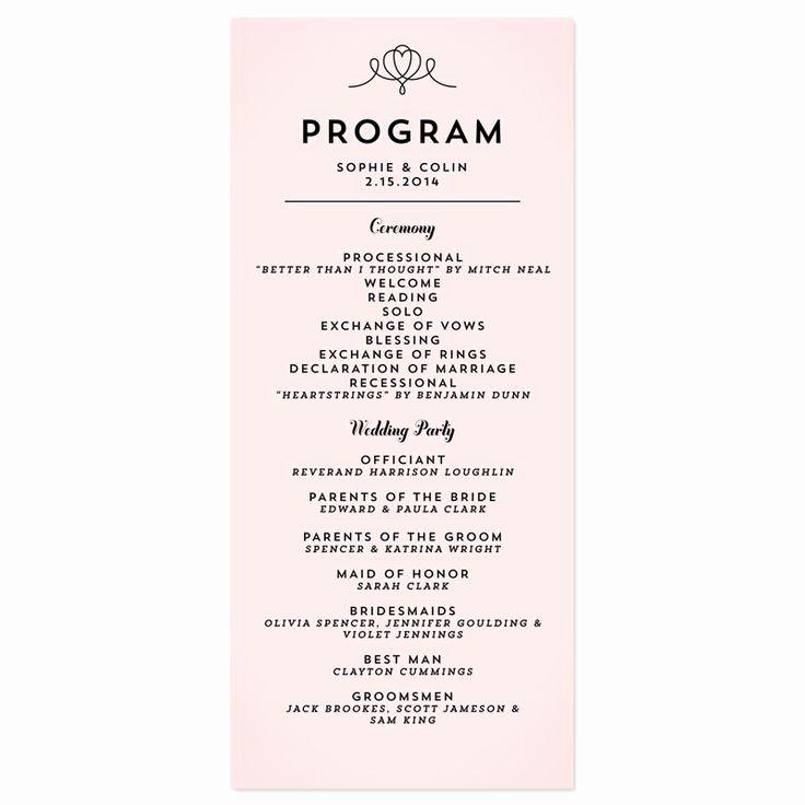 Best 25 Wedding Program Samples Ideas On Pinterest