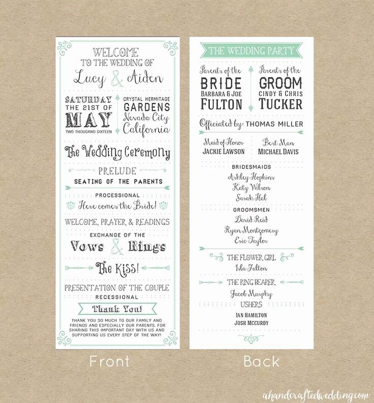 Best 25 Wedding Program Template Free Ideas Pinterest