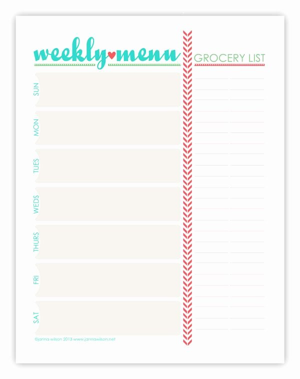 Best 25 Weekly Menu Printable Ideas On Pinterest