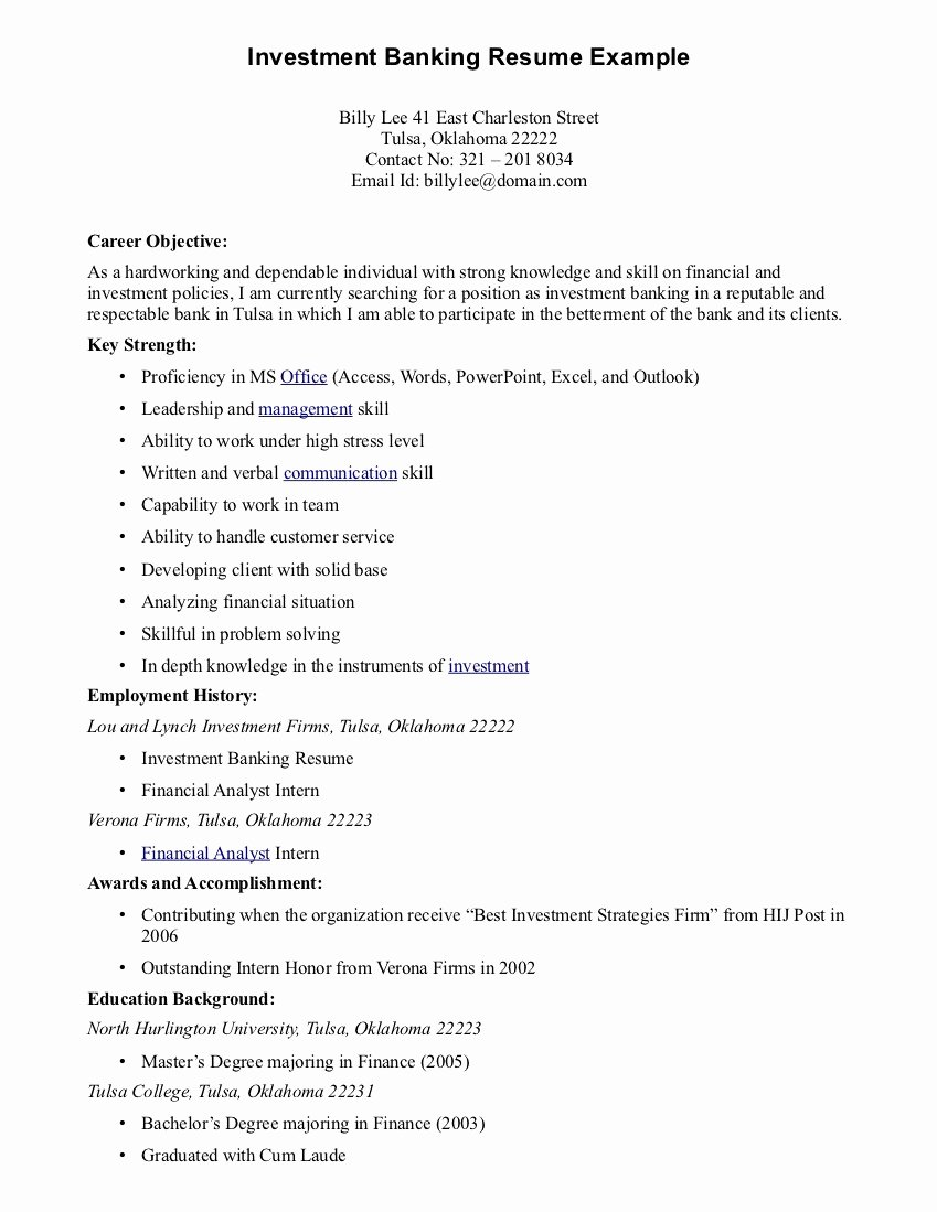 Best Career Objective for Resume 2016