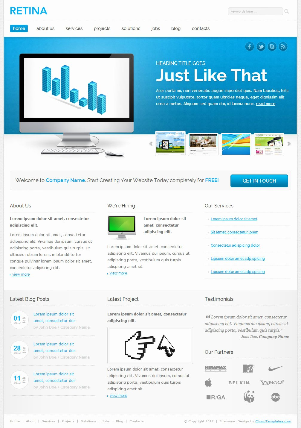 Best Collection Of 10 Free Responsive Design HTML5