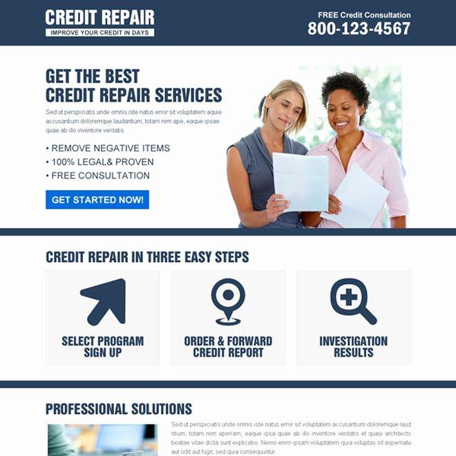 Best Credit Repair Service Responsive Landing Page Design