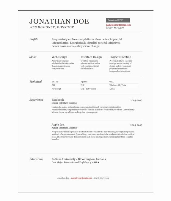 Best E Page Resume Template Best Resume Collection