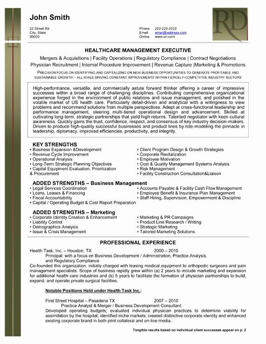 Best Executive Resume Templates & Samples On Pinterest