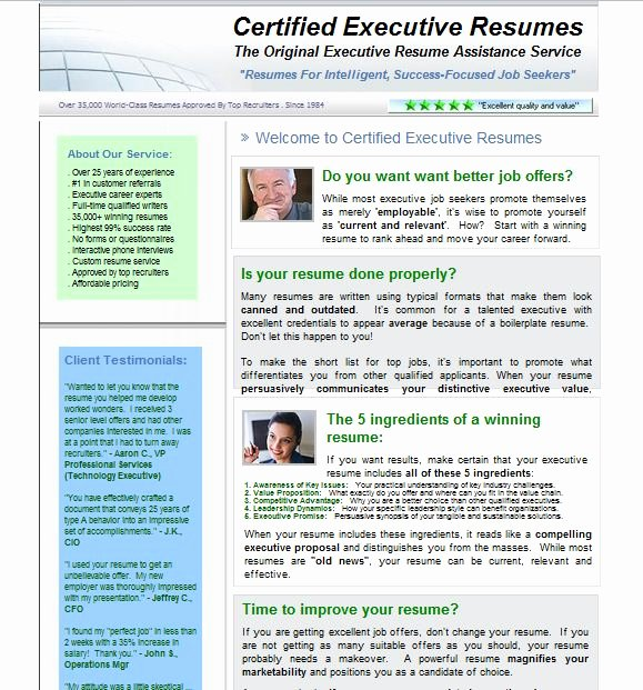 Best Executive Resume Writing Services Reviews Resume