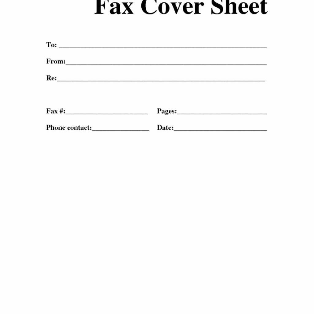 Best Fax Cover Letter Template – Letter format Writing