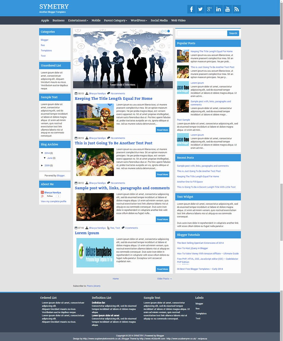 Best Free 3 Column Blog Templates & themes