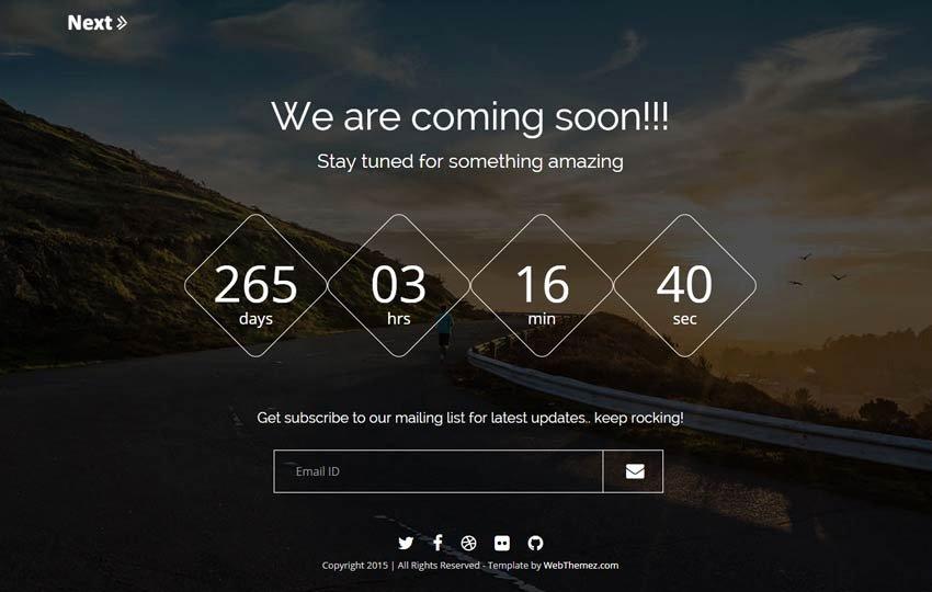 Best Free Ing soon Bootstrap Template Webthemez