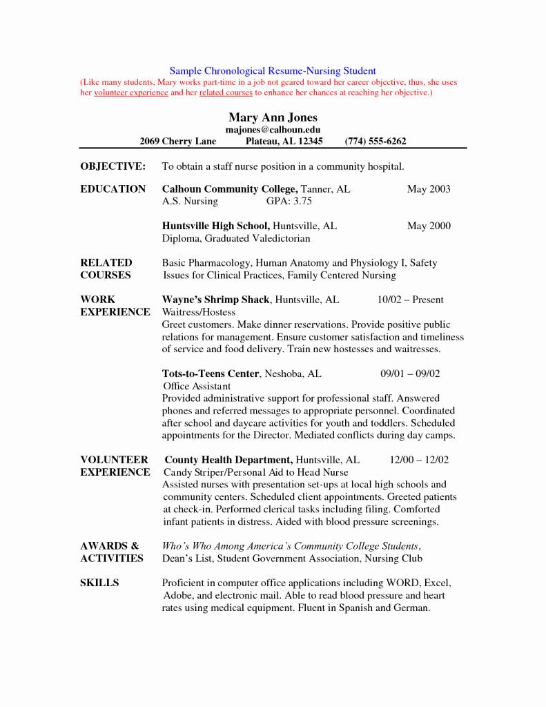 Best Free Nurse Resume Template