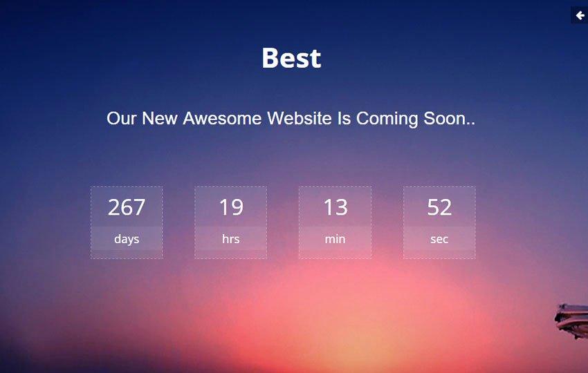 Best Ing soon HTML Bootstrap Template Free Download