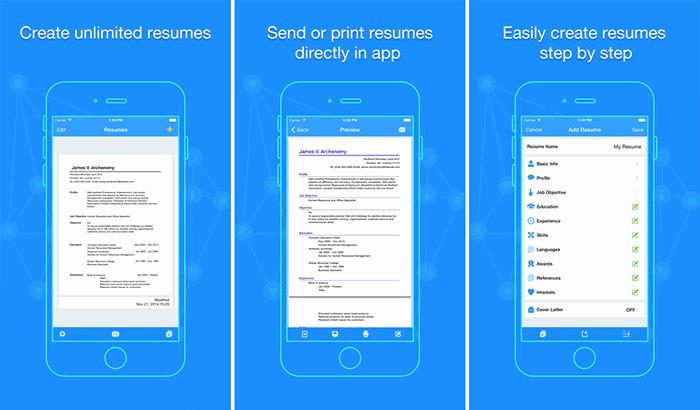 Best iPhone Ipad Apps to Create Your Résumé to Land the