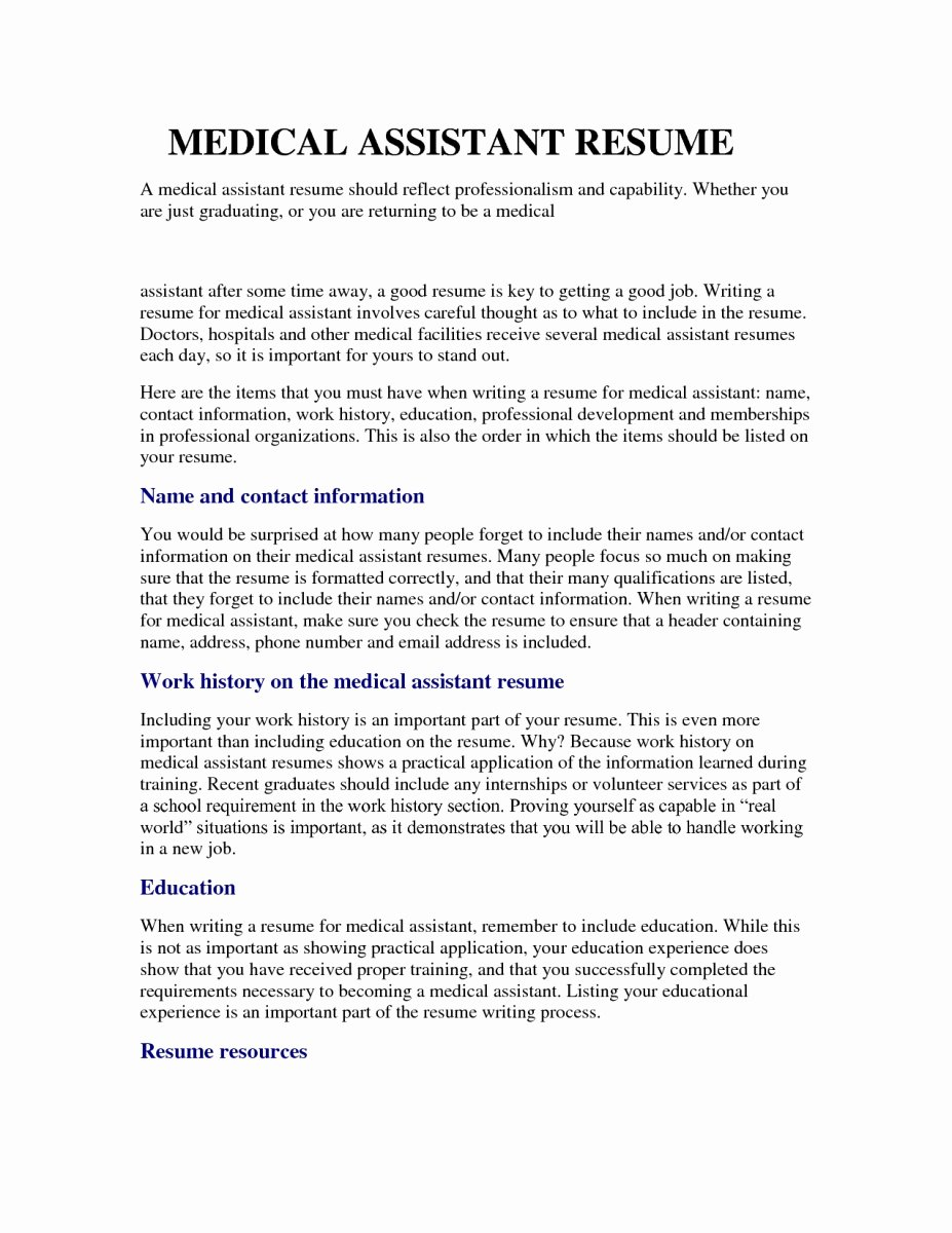 Best Medical assistant Resumes for 2017 – Perfect Resume