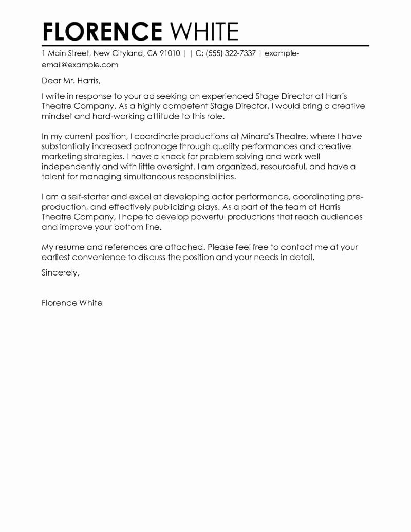 Best Medical Cover Letter Examples
