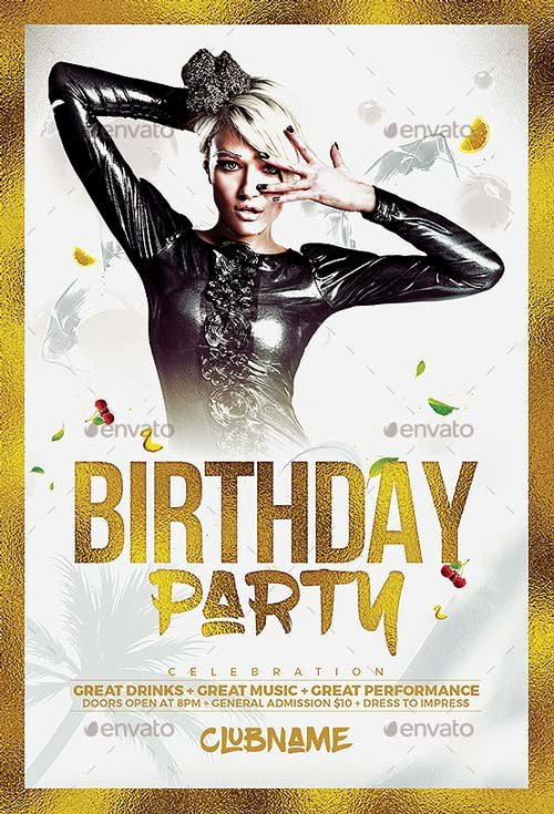 Best Of Birthday Flyer Templates Free and Premium Flyer
