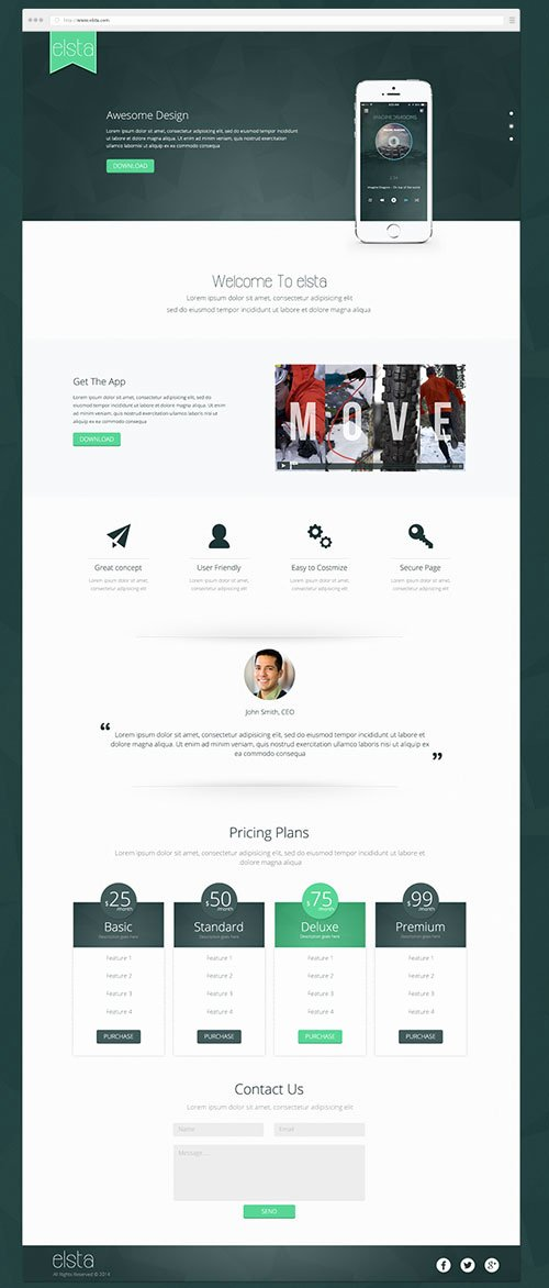 Best Of Free Web Landing Page Templates