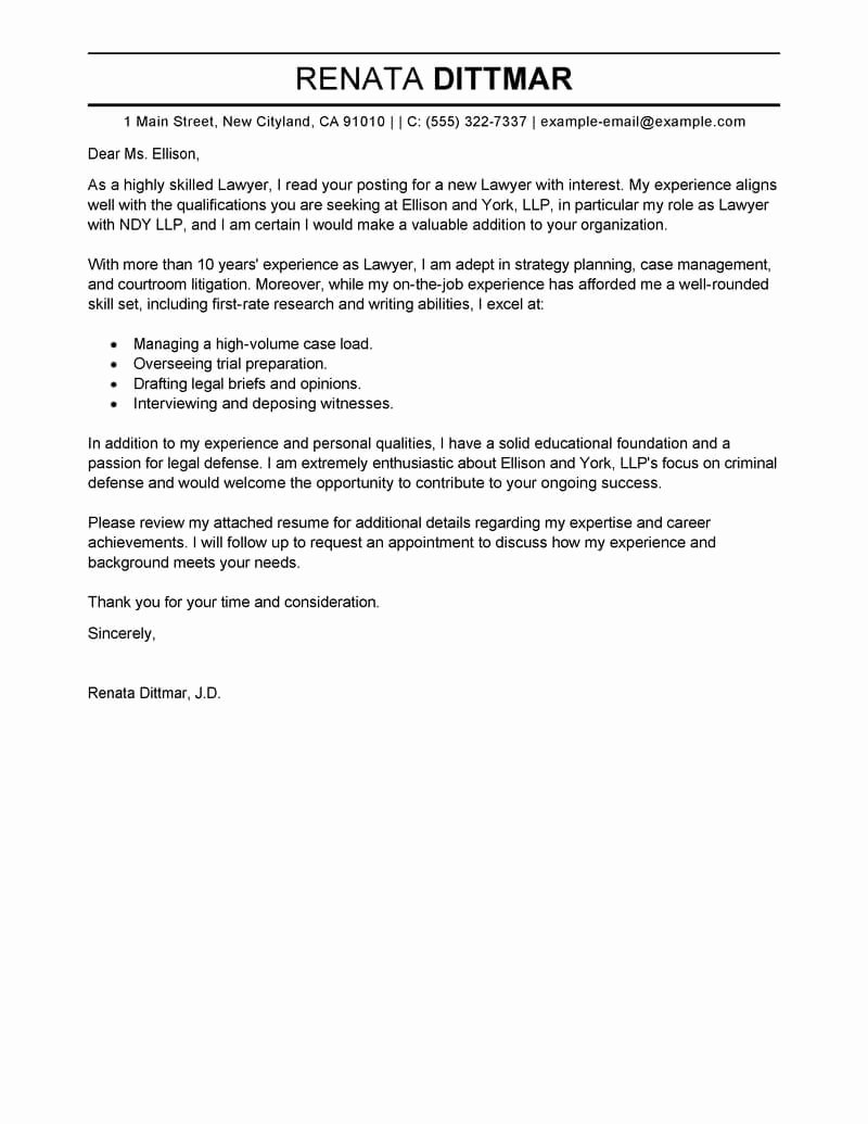 Best Opening Cover Letter Lines
