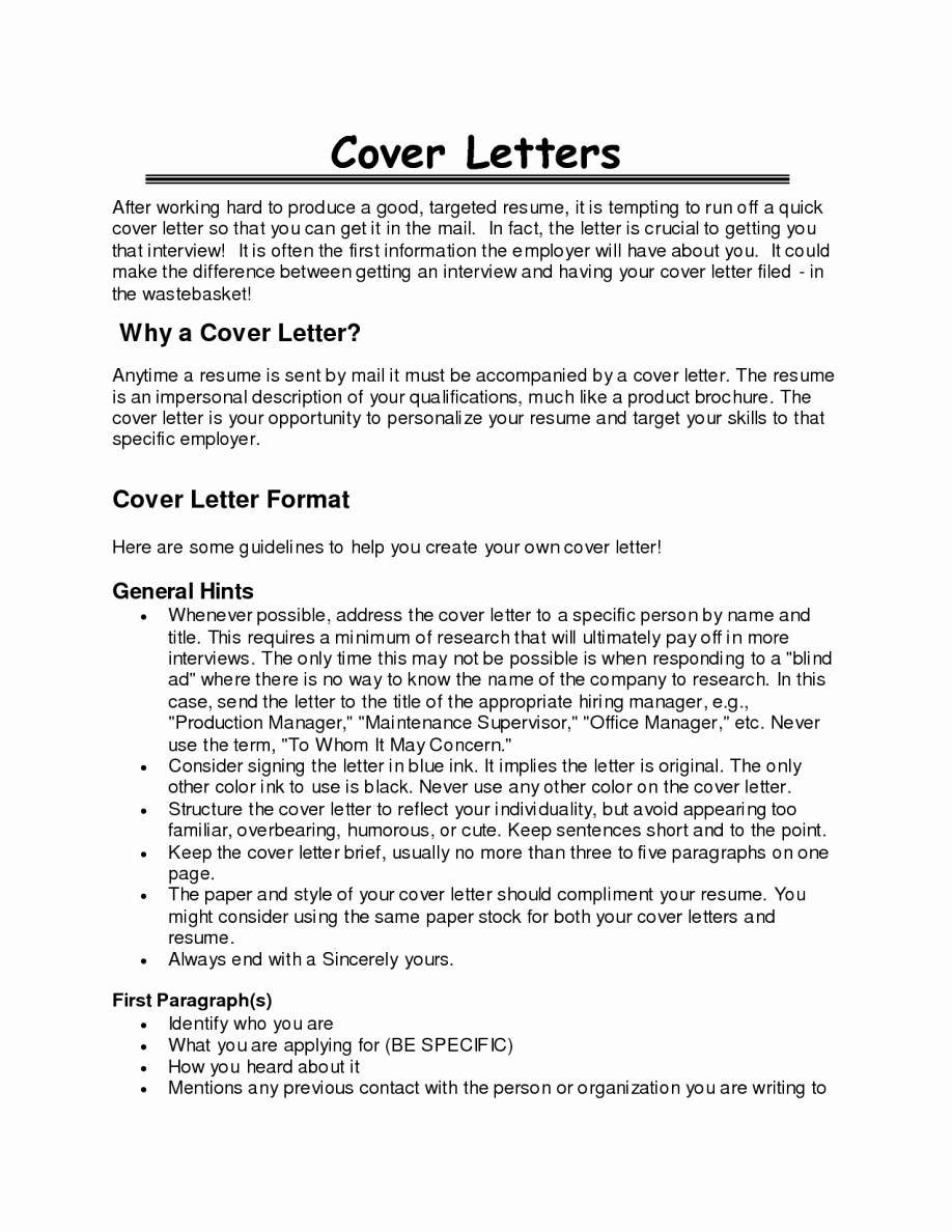 Best Opening Statement Cover Letter