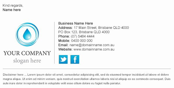 Best Professional Email Signature Templates Templates