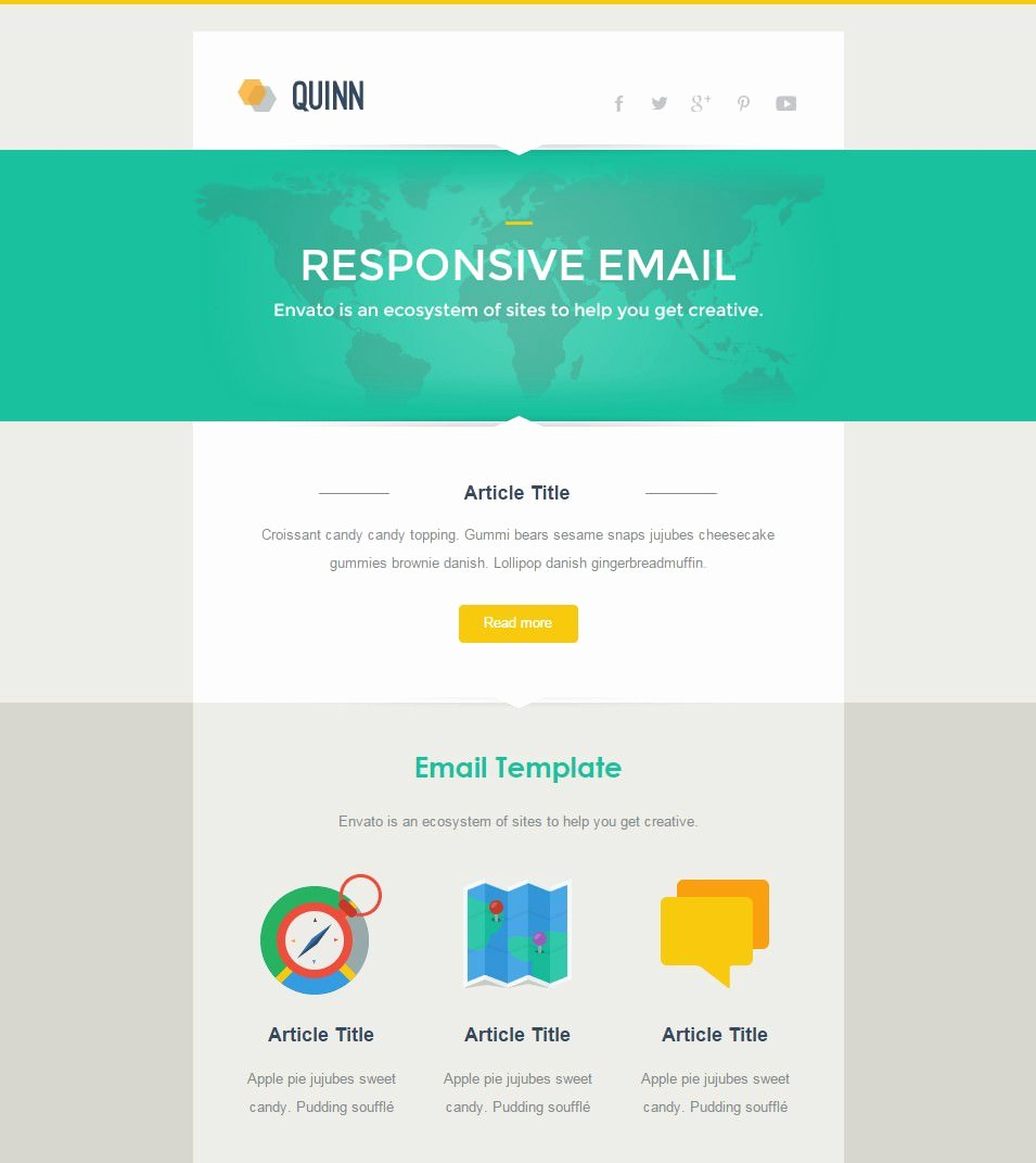 Best Responsive Email Template 28 Free Psd Eps Ai