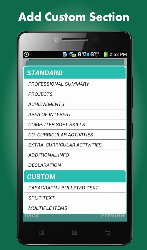 Best Resume App for android 2017 New Resume Builder App