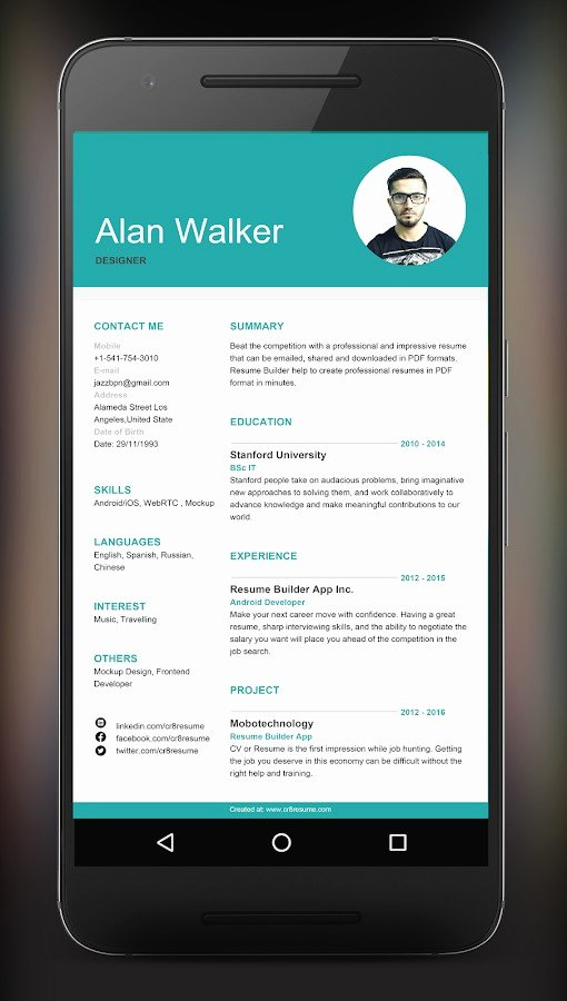 best resume app for android